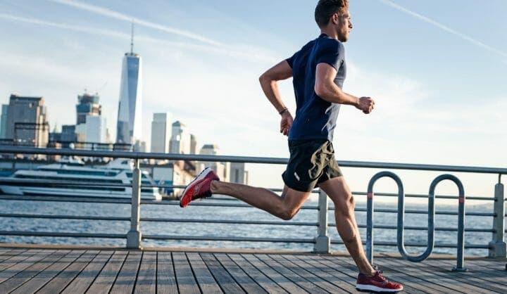 Calentamiento para una carrera de running