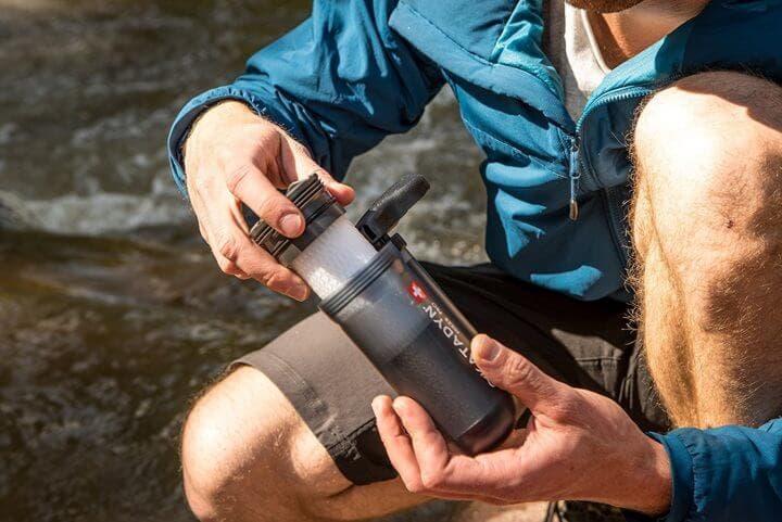 Purificador de agua ideal para ciclistas