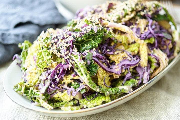 ¿Cómo preparar una ensalada de repollo?