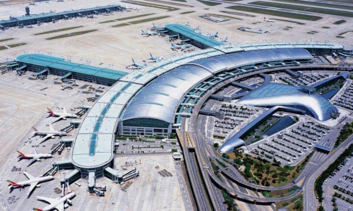 Aeropuerto de Incheon en Corea del Sur