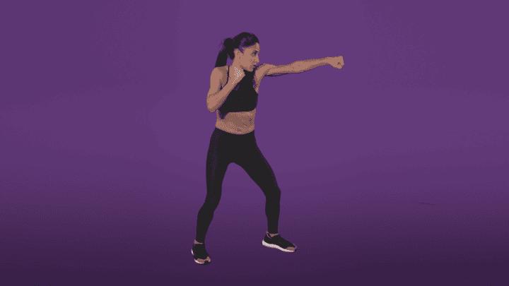 Movimientos de kick boxing para rutina HIIT