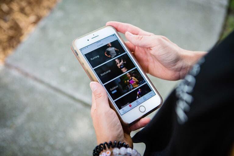 App Peloton Digital para practicar ejercicio físico