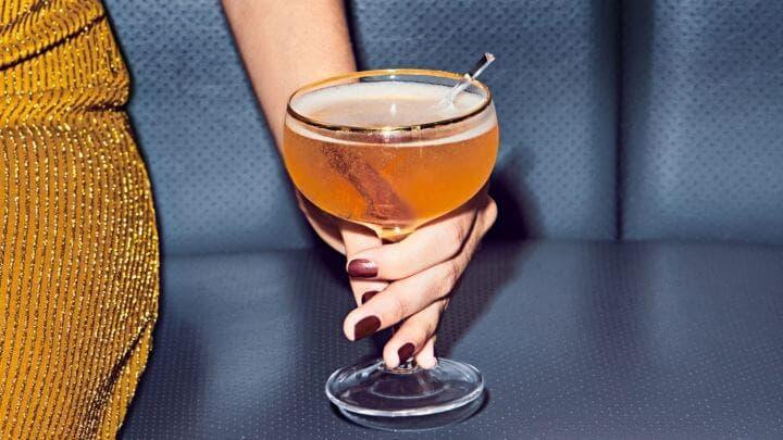 Receta cetogénica del cocktail de champagne