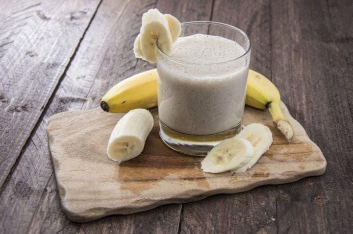 Preparación del batido de plátano