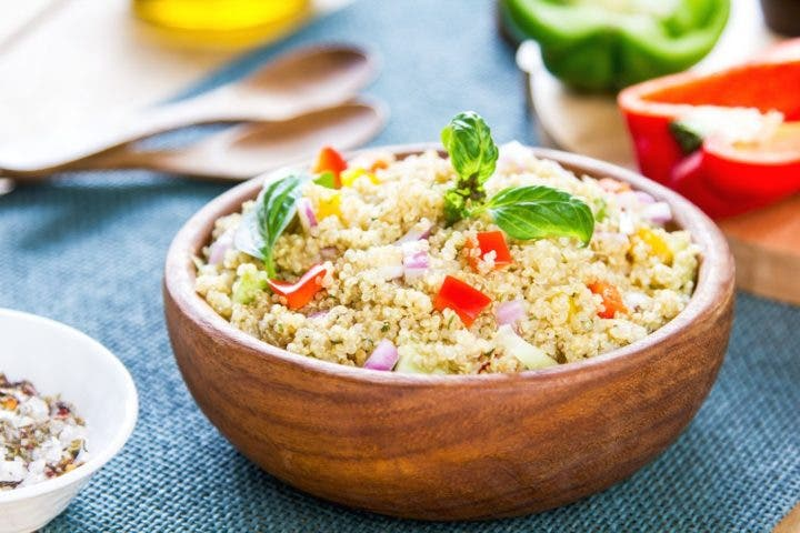 Cena saludable de quinoa y jengibre