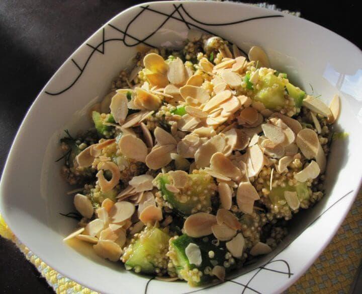 Ensalada de quinoa y almendras