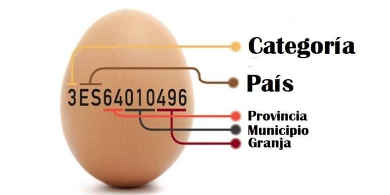 Cómo interpretar los códigos de los huevos