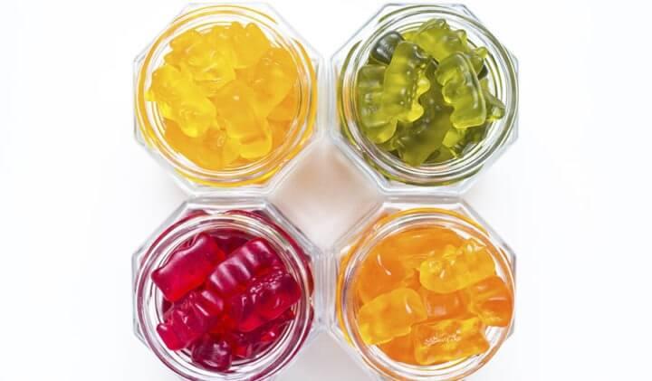 Nutrientes de las gominolas de vitaminas