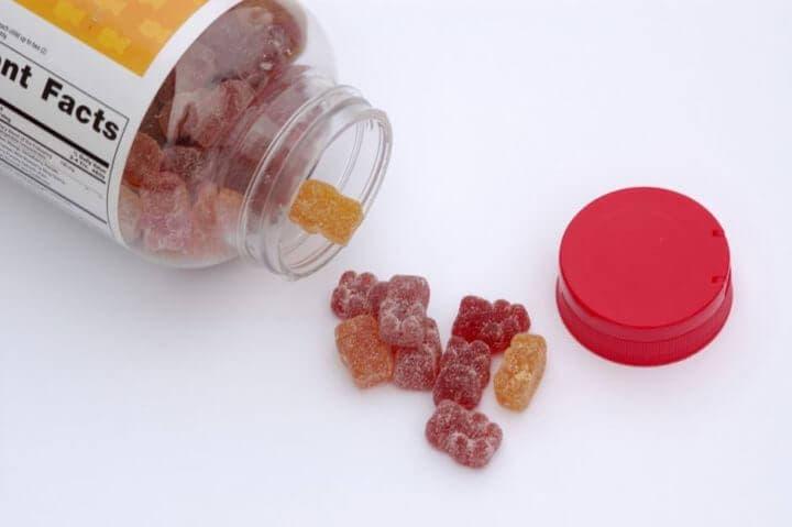 Suplemento de vitaminas de gominolas