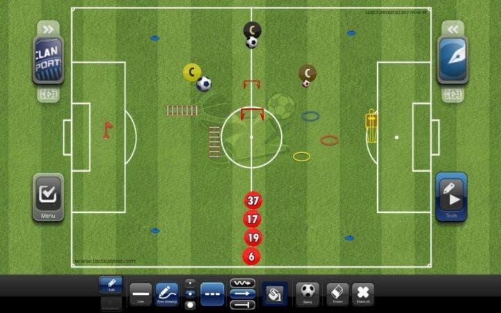 Apps de fútbol para crear tácticas y formaciones
