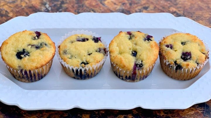 Receta de muffins de arándanos cetogénicos