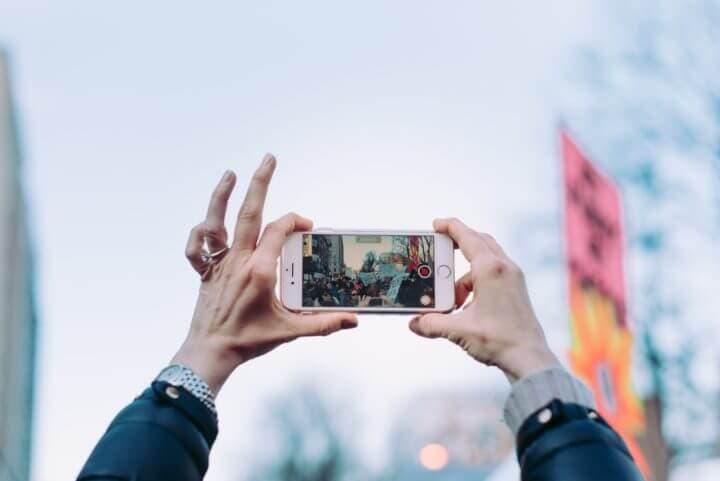 App para tomar fotos durante un viaje