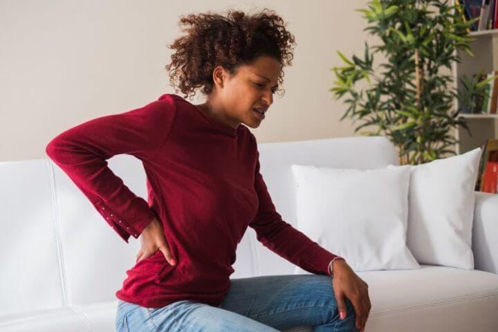 Dolor de espalda causado por un trabajo sedentario
