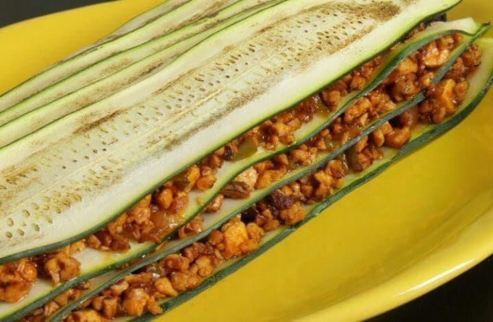Receta vegana de lasaña de vegetales