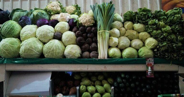 Tipos de verduras sanas y saludables