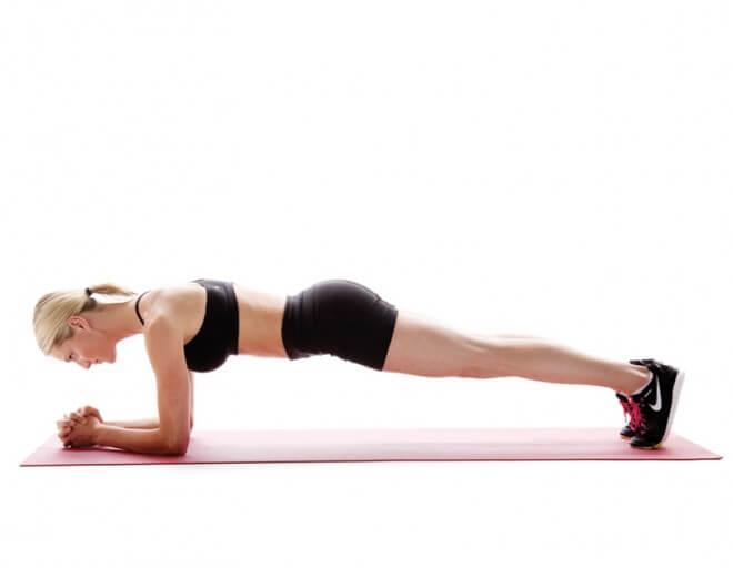 Posición correcta para ejecutar planks