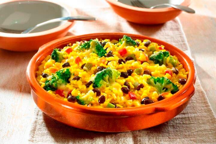 Receta de arroz español con azafrán