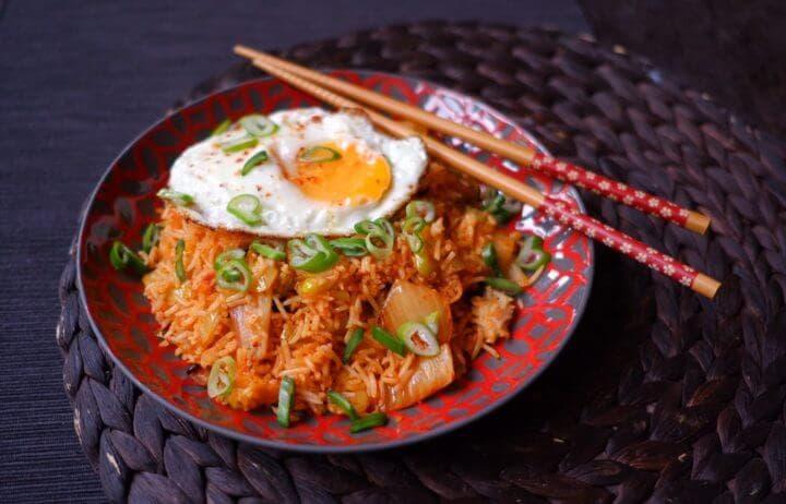 Recomendaciones para cocinar arroz asiático con kimchi