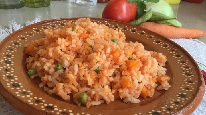 Receta de arroz mexicano rojo