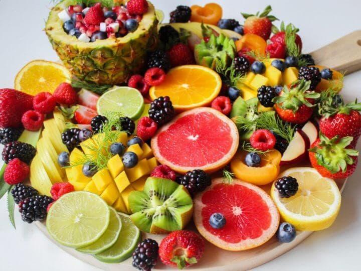 Pizza hecha de frutas y sin azúcar añadida