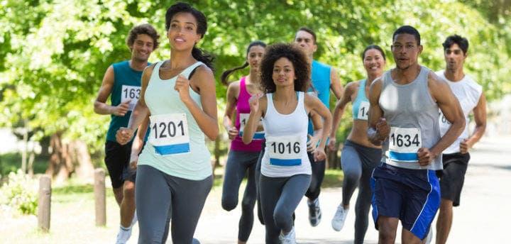 El peso ideal para una competencia de running