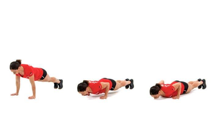 Rutina HIIT efectiva en casa, push-up