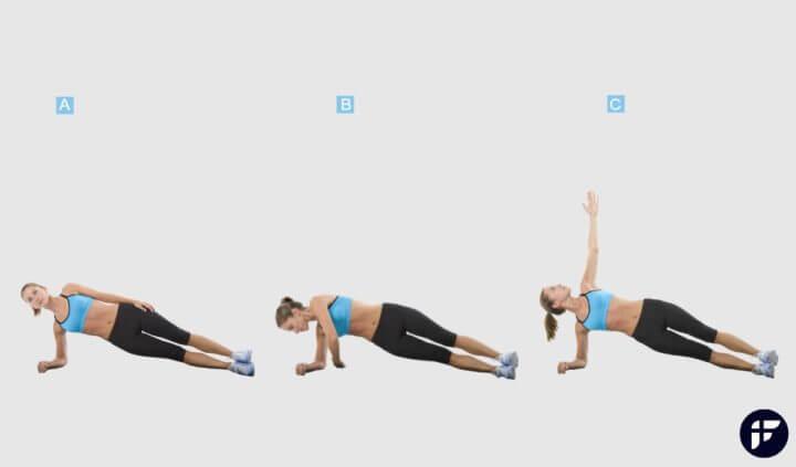 Hacer planchas en casa, ejercicio para perder peso