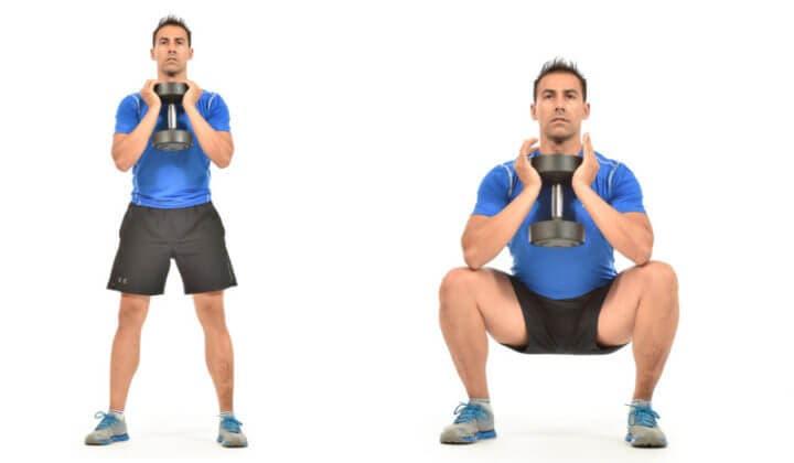 Sentadillas de copa, un ejercicio para perder peso en casa
