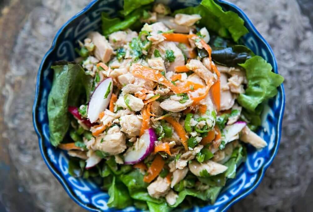 Receta de ensalada de atún asiática