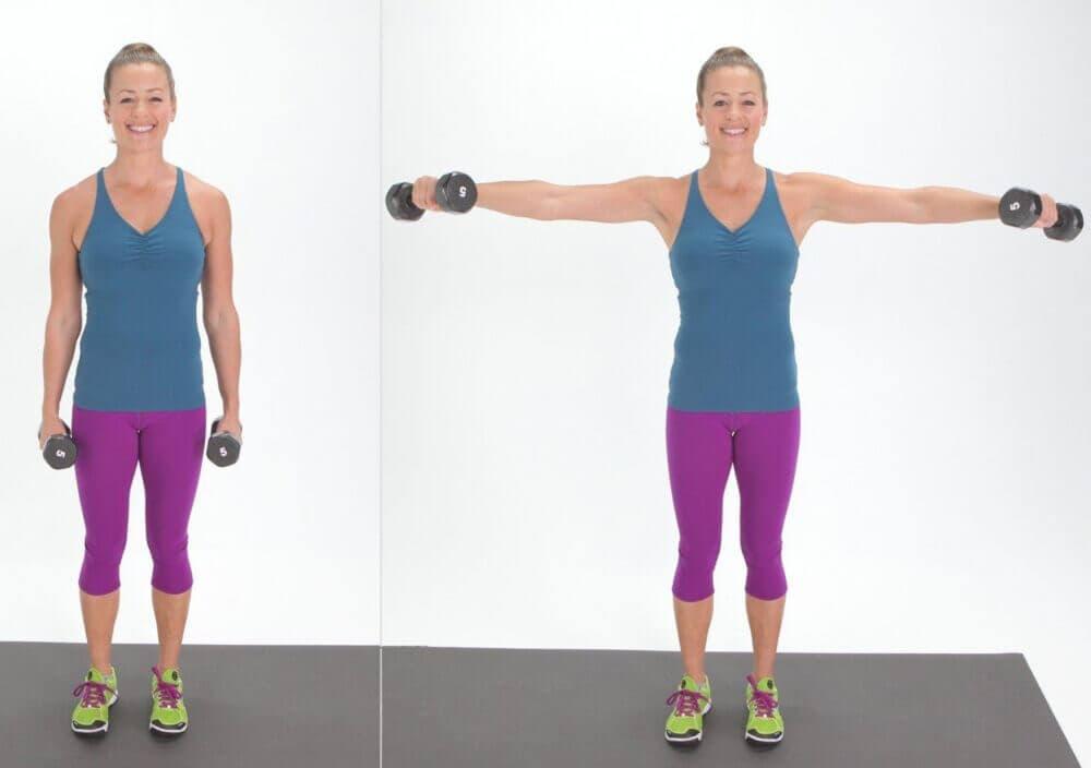 Levantamiento lateral de brazos
