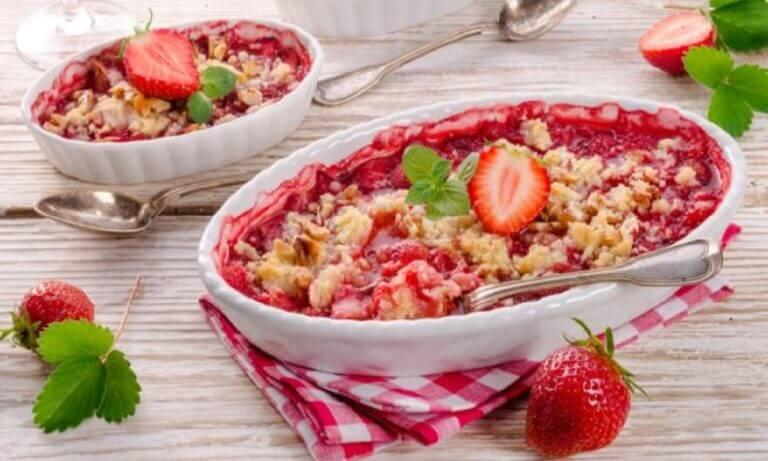 7 recetas de postres saludables con fresas