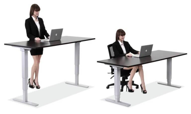 Standing desk o escritorio elevable para trabajar sentado