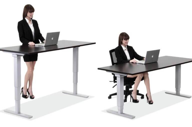 5 standing desk o escritorio elevable para trabajar de pie y sentado
