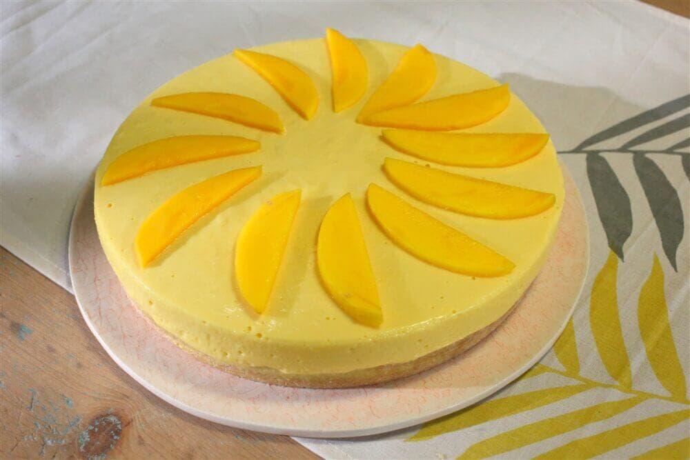 Tips para hacer tarta fría saludable con mango