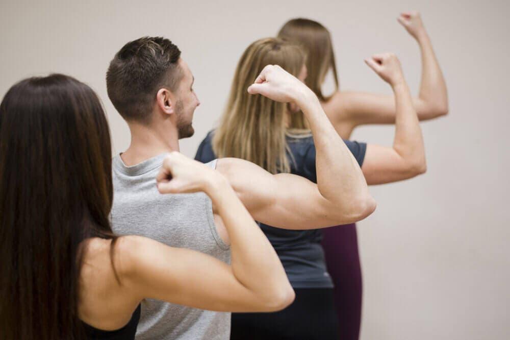 definir músculos en veganos