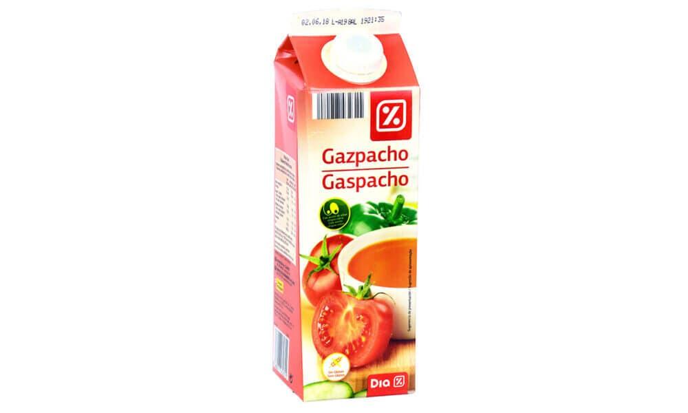 Gazpacho elaborado por DIA, el Gazpacho más saludable del supermercado en España
