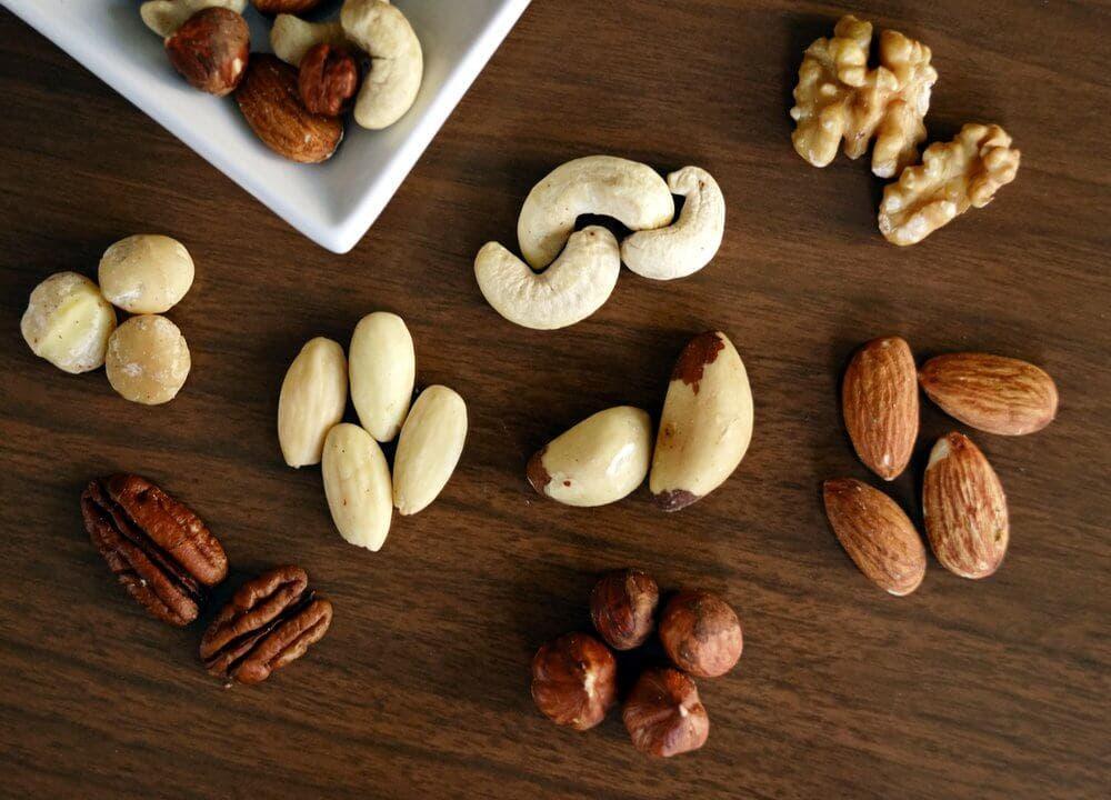 frutos secos para la alimentación de un diabético antes y después de hacer ejercicio