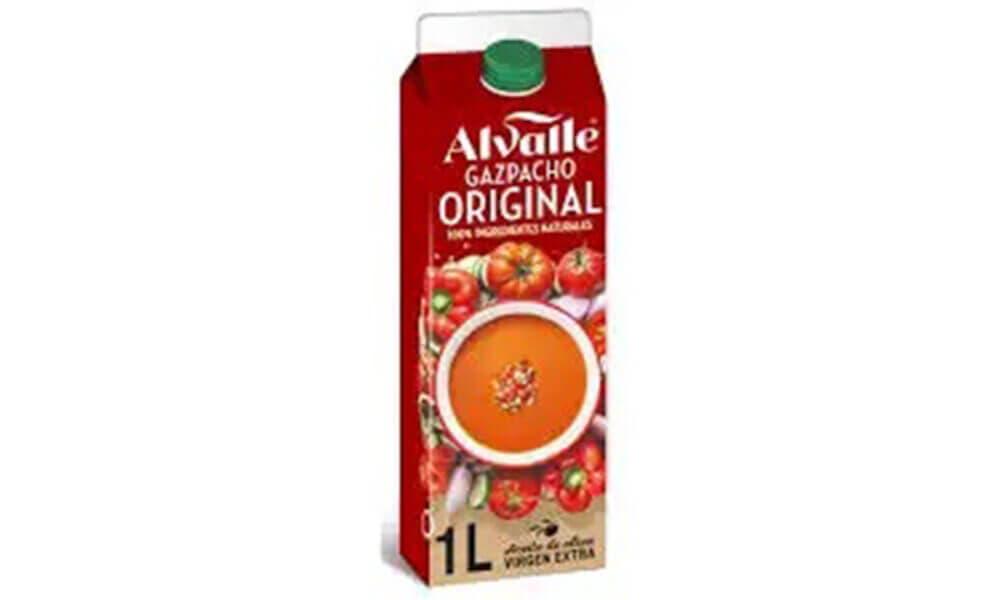 Gazpacho original elaborado por Alvalle, sin duda el Gazpacho más saludable del supermercado en España