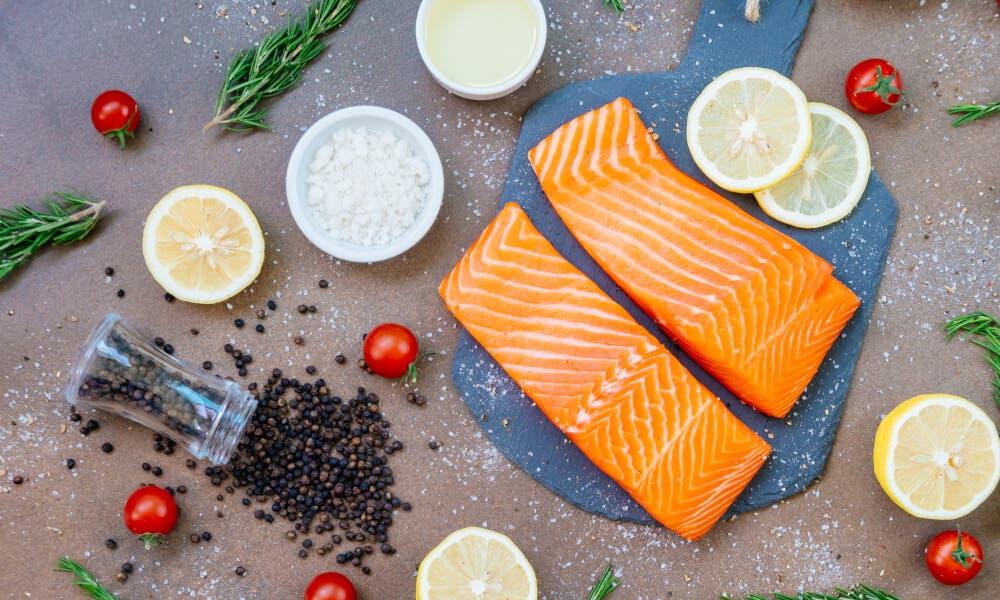 Salmón fresco, receta baja en carbohidratos