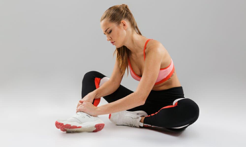 Lesión de tobillo al practicar ejercicios pliométricos