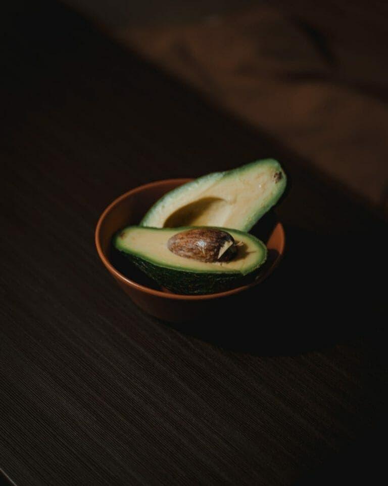 a bowl of fresh avocado